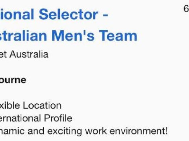 Must love the Marshes: Cricket Australia is looking for a new selector... online