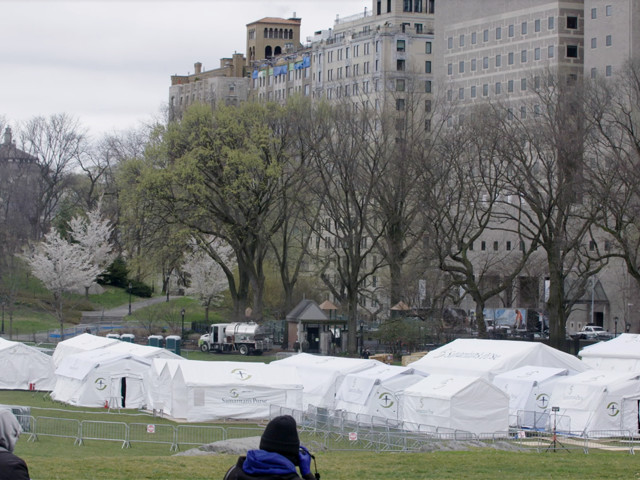 The Surreality of Central Park's Field Hospital