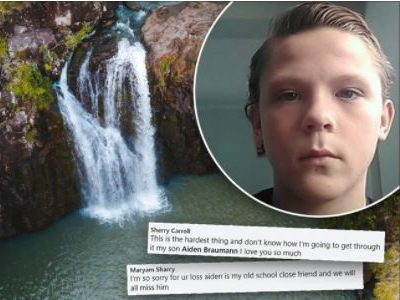 Frantic search for boy missing from popular waterhole