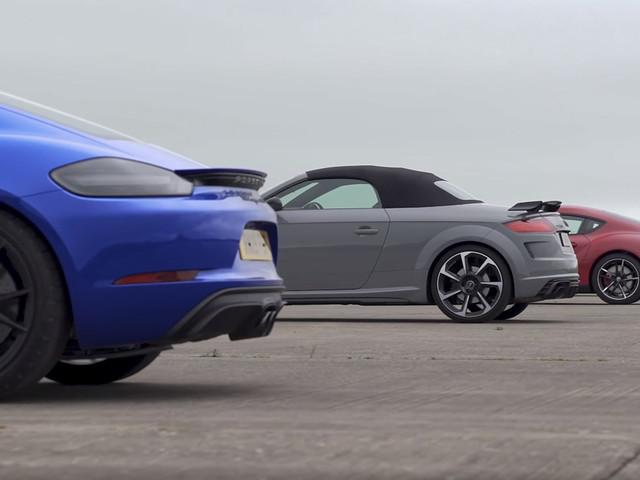 New Toyota Supra Races Porsche Cayman GTS, Audi TT RS And Alpine A110