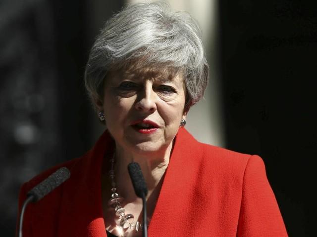 British PM May to step down next month