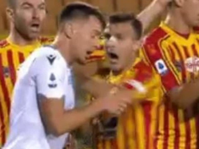 Lazio star sent off for shock biting incident