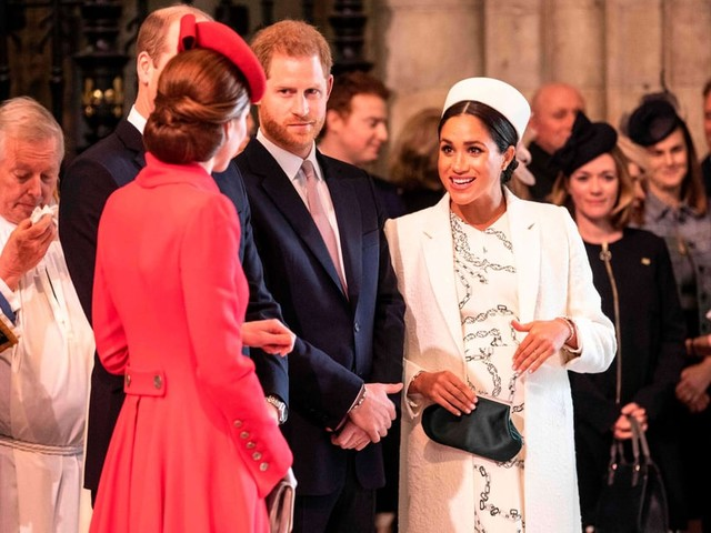 Will, Kate, Harry, and Meghan Were Reunited as They Attended the Commonwealth Day Service