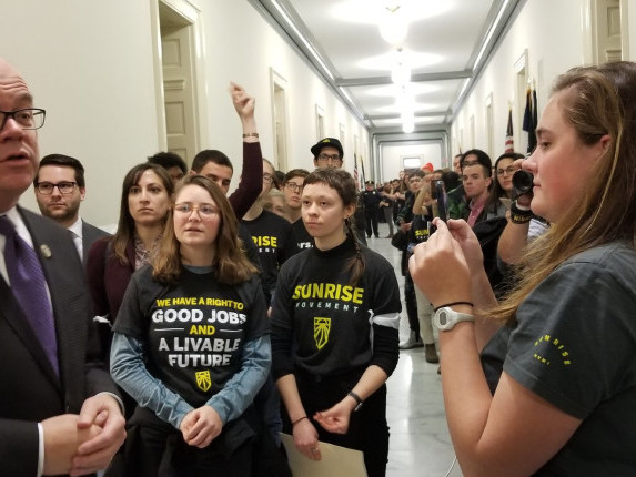 Protests Continue On Capitol Hill As Support Builds For Ocasio-Cortez's Green New Deal