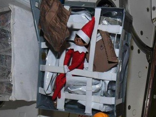 NASA astronaut discovers Christmas elf on the ISS - CNET