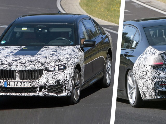 Facelifted 2019 BMW 7-Series Spied In Base And M760Li xDrive Forms