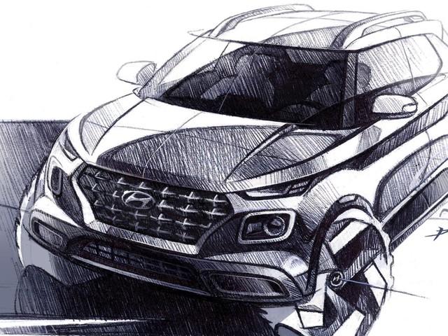 Hyundai Releases Venue SUV Sketches Before April 17 Debut