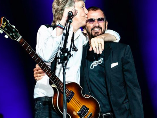 Watch The Beatles' Paul McCartney And Ringo Starr Reunite Onstage In LA