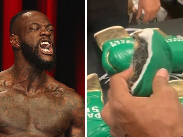 Officials cut Tyson Fury's gloves open after Deontay Wilder makes fresh cheating claim, swaps gloves