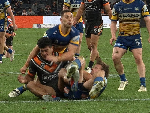 Parramatta have booked their finals spot. But this tackle could rule out Ryan Matterson