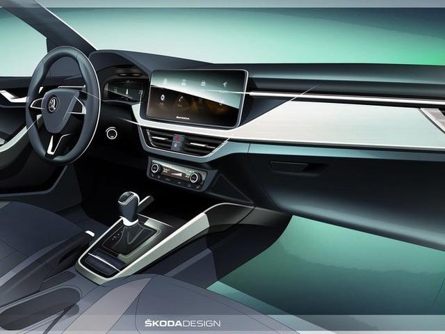 2019 Skoda Scala interior teased