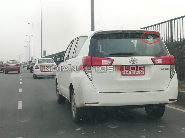 Toyota Innova Crysta CNG Spotted On Test