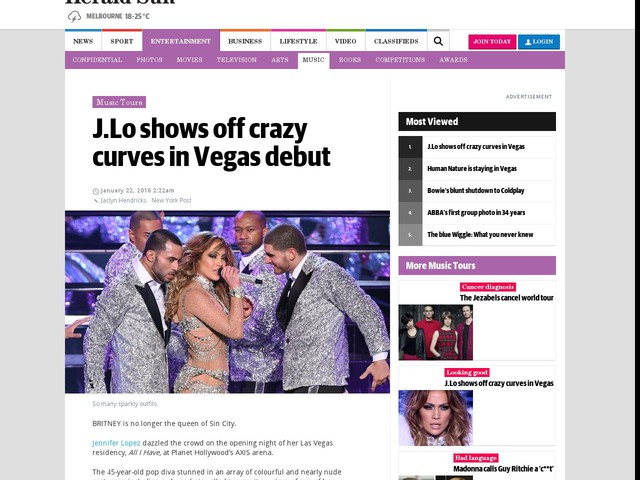 J.Lo shows off crazy curves in Vegas
