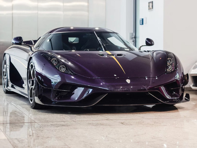 Purple Carbon Fiber Koenigsegg Regera Is Truly A Sight To Behold