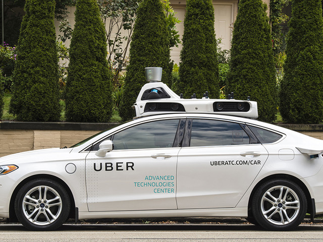 New Uber patent shows how self-driving cars might talk to pedestrians