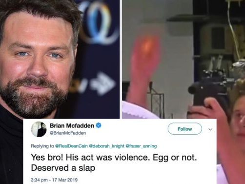 "Brian McFadden Says Egg Boy ""Deserved A Slap"", Gets Roasted Accordingly"