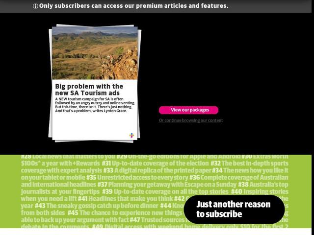Big problem with the new SA Tourism ads