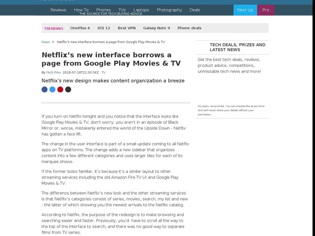 Netflix's new interface borrows a page from Google Play Movies & TV
