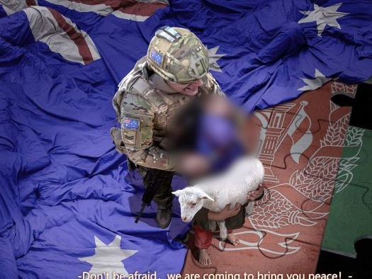 Doctored image of Australian soldier part of Chinese diplomats' propaganda war, analyst says