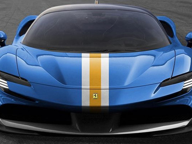 Red Is So Overrated; Ferrari SF90 Stradale Is Much Better In Azzurro Dino Blue