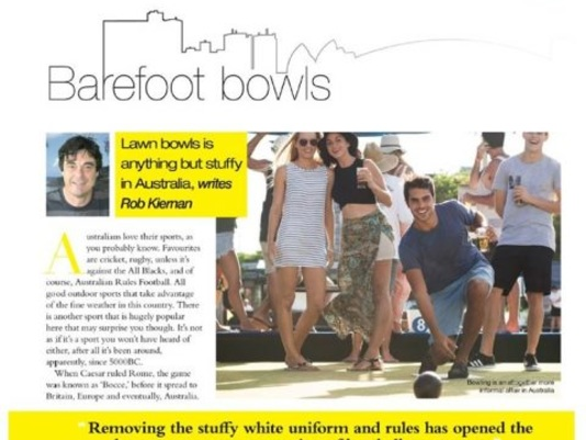 Barefoot Bowls; Lawn Bowls Without Shoes?