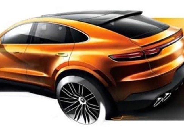 2020 Porsche Cayenne Coupe sketched