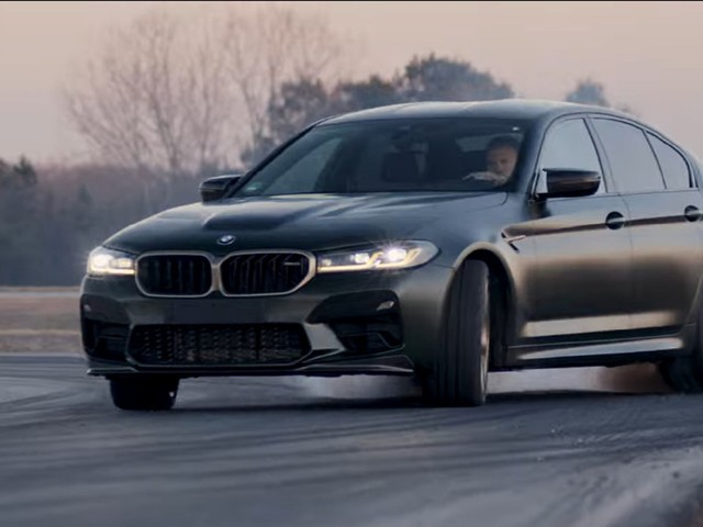 BMW Racing Driver Takes New M5 CS For A Spin