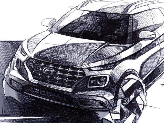 2020 Hyundai Venue sketched
