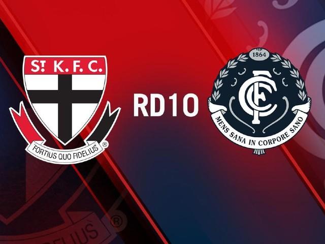 Live AFL, Round 10: St Kilda v Carlton