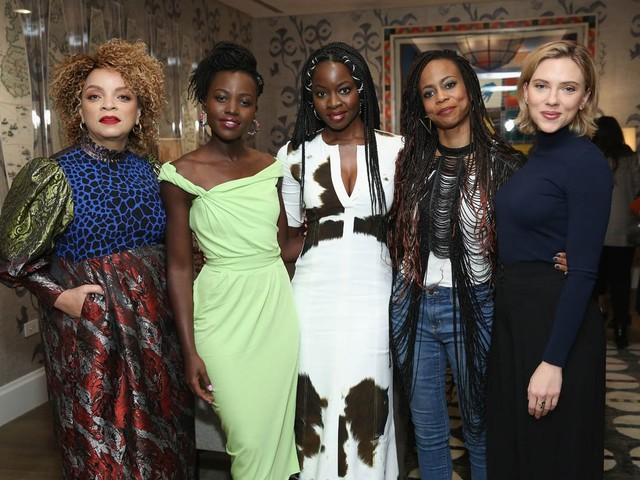 Scarlett Johansson hosts Black Panther screening and reception in New York
