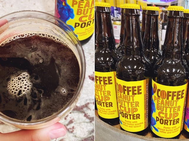 I Tried Trader Joe's New Coffee Peanut-Butter Beer, and Fair Warning: It's Nutty!