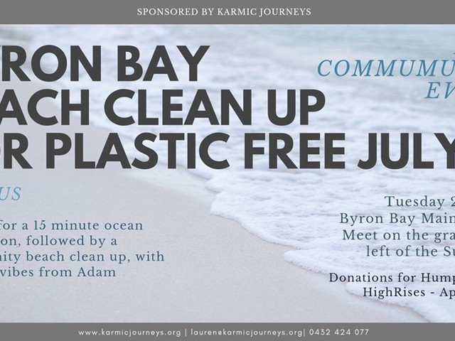 Byron Beach clean up – Plastic Free July
