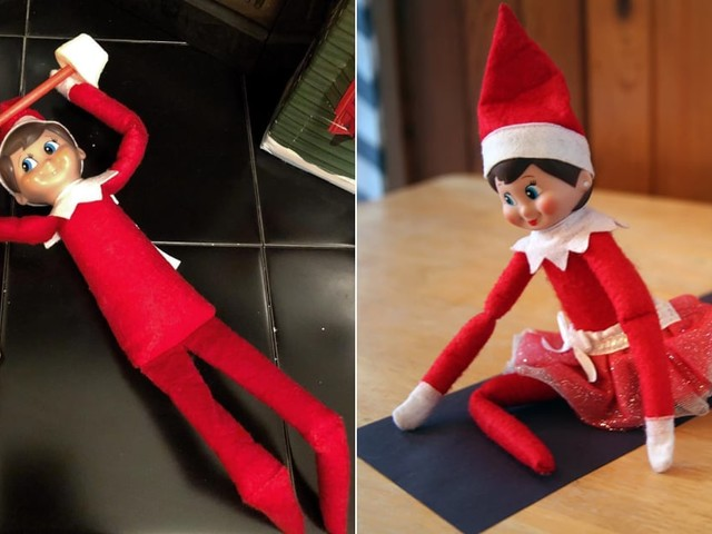 These Elves on the Shelf Aren't Into Mischief - They're Into FITNESS!