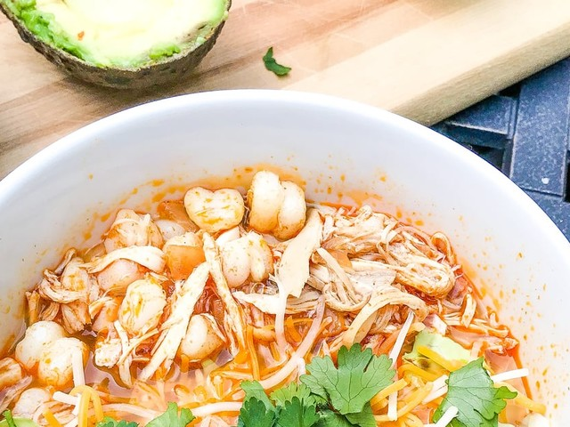 If I Could, I'd Give This Chicken Pozole Recipe Three Thumbs Up