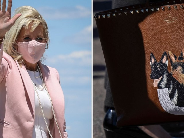 Jill Biden's Custom Valentino Purse Features Hand-Painted Portraits of Her German Shepherds