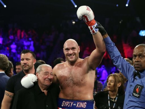 Tyson Fury beats Tom Schwarz after second round technical knock-out in Las Vegas bout