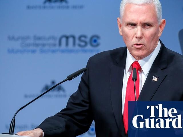Mike Pence rebukes European powers over Iran and Venezuela – video