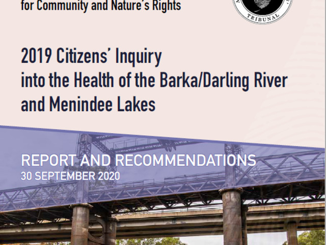 Citizens inquiry launches report into Barka River, Menindee Lakes