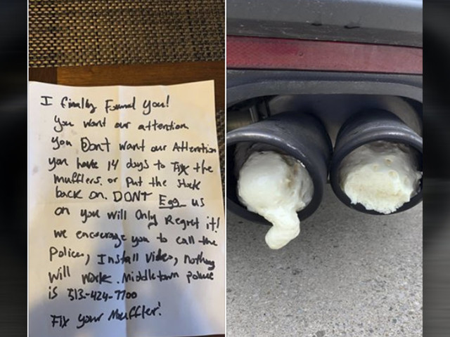 Angry Neighbor Allegedly Uses Expanding Foam To Silence Mustang's Noisy Exhaust
