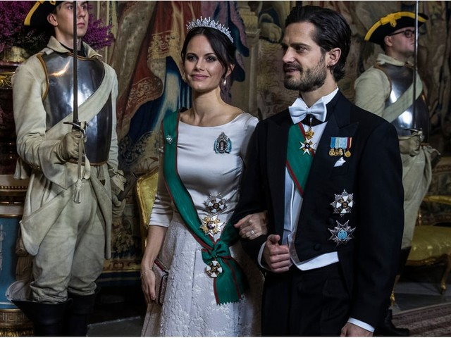 Princess Sofia Stuns in a Beautiful Bridal Look at a State Dinner
