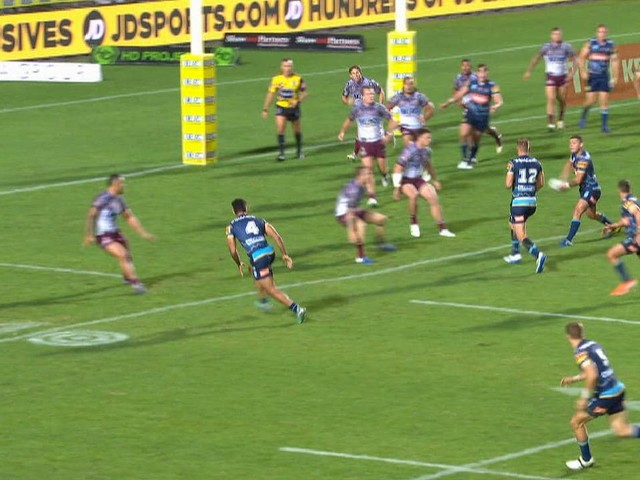 Million dollar pass: Gold Coast Titans' Ash Taylor silences doubters with magnificent play