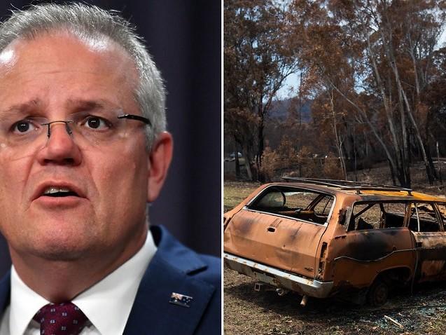 Bushfire hazard reduction 'as important as' emissions reduction, Scott Morrison says