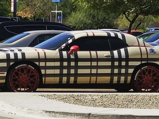 Dodge Challenger And Burberry Plaid Don't Really Go Well Together, Do They?