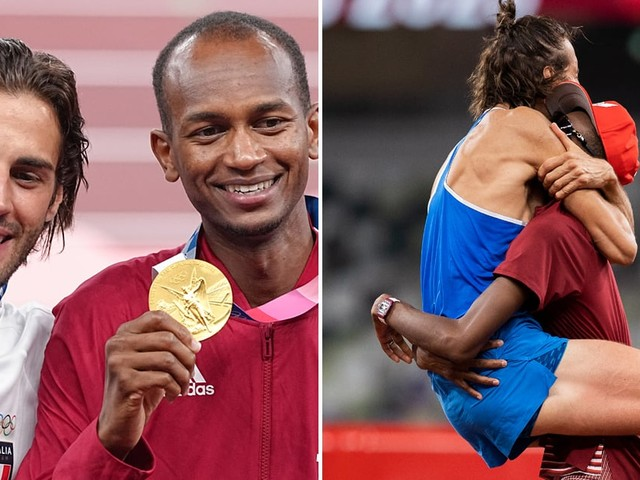 You've Never Seen Sportsmanship Like These 2 High Jumpers Sharing the Gold Medal