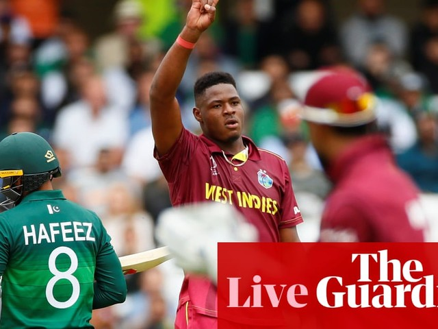 West Indies set 106 to win by Pakistan: Cricket World Cup 2019 – live!