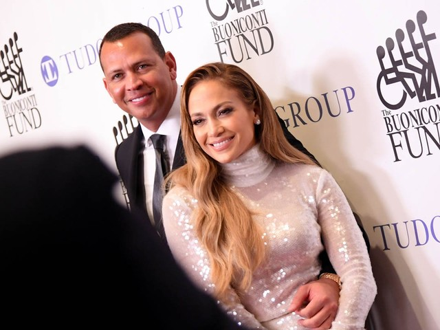Jennifer Lopez supports Alex Rodriguez at the 33rd Annual Great Sports Legends Dinner