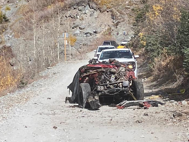 Jeep Wrangler Destroyed After Rolling Off Colorado Trail, Passenger Seriously Injured