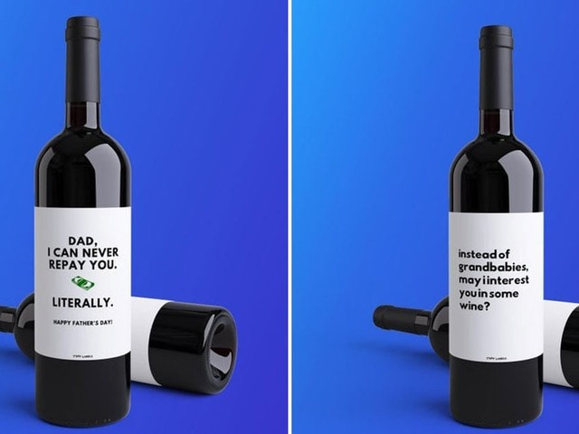 12 Funny Father's Day Wine Labels For the Dad Who Is Wine in a Million
