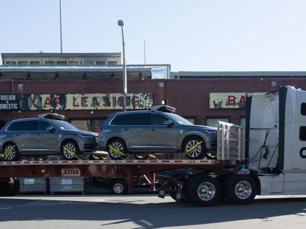 Self-Driving Uber Cars Had To Be Hauled Away By Their Self-Driving Truck Friends
