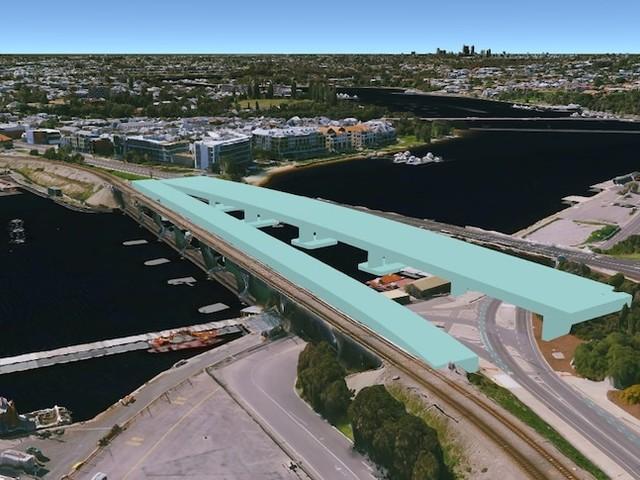 Location of new Fremantle bridges moved after community backlash against original plans